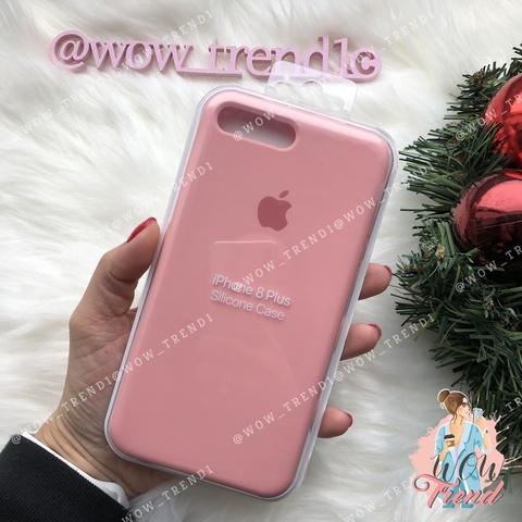 Чехол iPhone 7+/8+ Silicone Case /light pink/ розовый 1:1