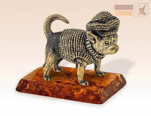 фигурка Собака - бабушкин Чих (чихуахуа) на янтаре