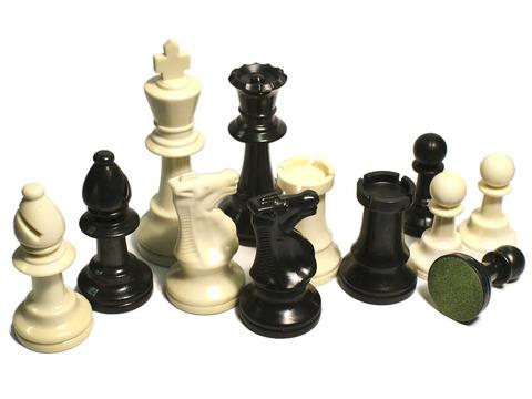Фигуры шахматные (пластмассовые без утяжелителя).