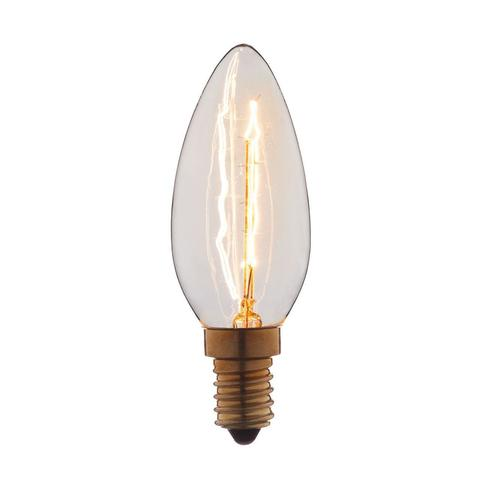 Лампа накаливания E14 40W свеча прозрачная 3540