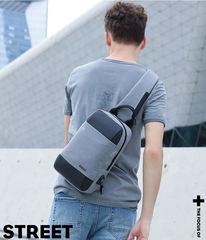 Рюкзак однолямочный КАКА 856 серо-чёрный
