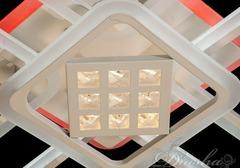 Потолочная LED-люстра с диммером, пультом и подсветкой  140W