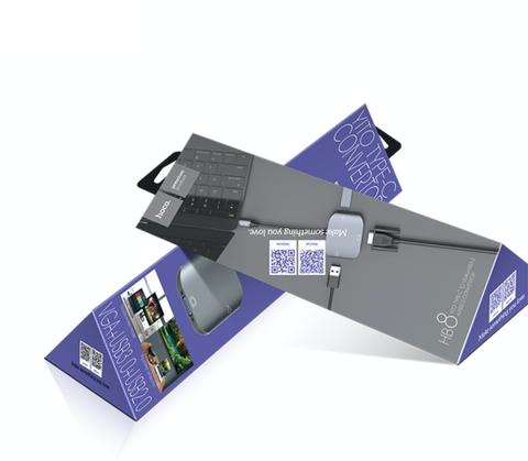 Купить переходник Hoco HB8 Type-C на VGA и USB