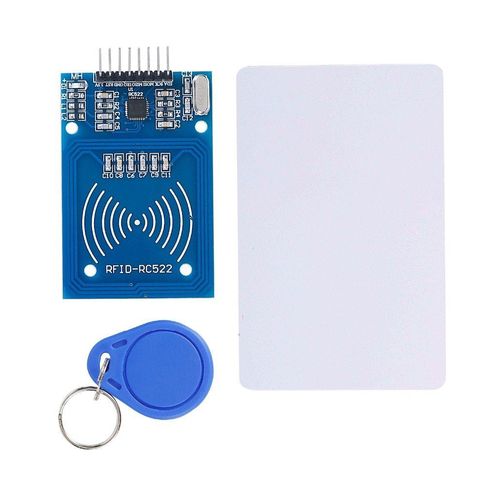 Модуль чтения и записи бесконтактных RFID карт 13,56 МГц с пустыми перезаписываемыми картой и брелком