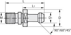 Штревель 60° герметизированный с отверстием