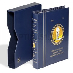 Альбом VISTA Американские нац. парки, квотеры США (National Park Quarters), с шубером, синий