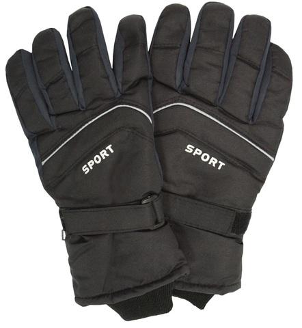 Перчатки спортивные утепленные черные(арт.380)
