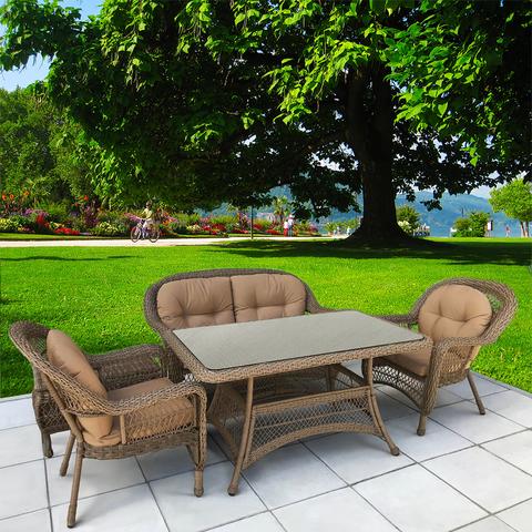 Комплект плетеной мебели T130Bg/LV520BB-Beige/Beige