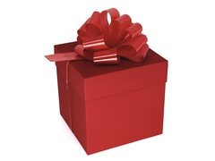 Коробка для подарков «Красная»  18.5 см*18,5 см*18,5 см