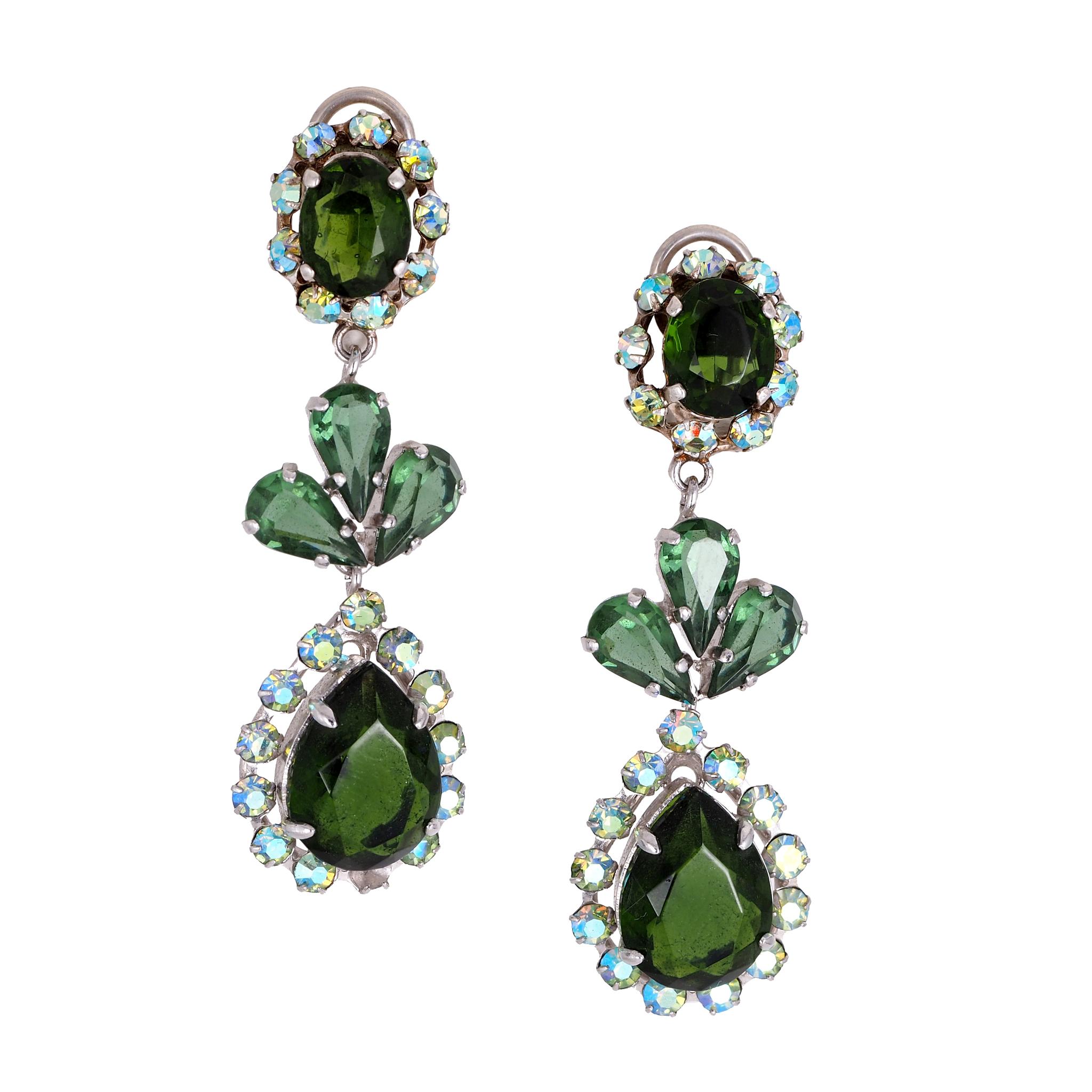 Клипсы Dior  в стиле украшений XVIII века, коллекция 1956 г.