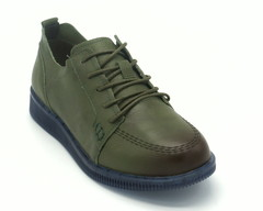 Полуботинки зеленые на шнуровке