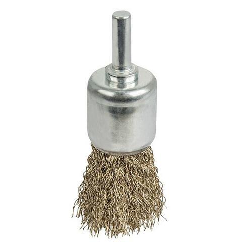 Кордщетка для дрели кистеобразная мягкая ПРАКТИКА 22 мм, хвост 6 мм (773-439)
