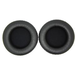 Амбушюры 65 мм кожаные черные