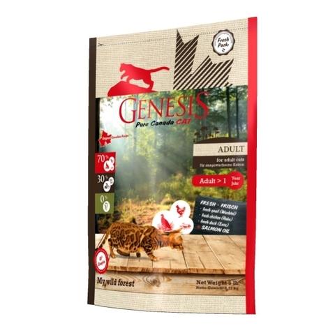 Genesis Pure Canada My Wild Forest Adult для взрослых кошек с уткой, перепелкой и курицей 2.268 кг