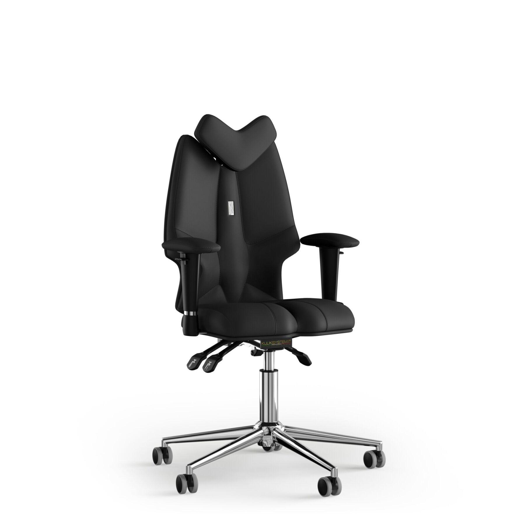 Кресло KULIK SYSTEM FLY Экокожа с подголовником без строчки
