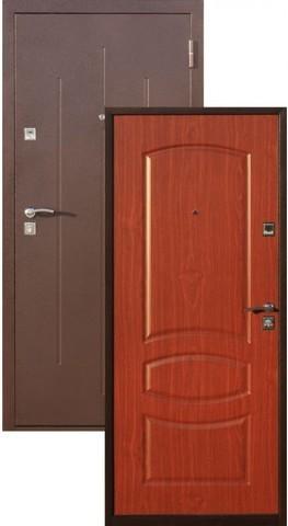 Дверь входная СтройГост Стройгост 7-2, 1 замок, 1 мм  металл, (медь+итальянский орех)