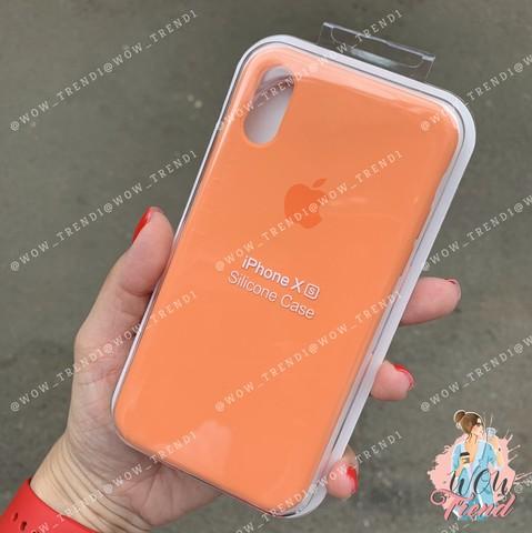 Чехол iPhone X/XS Silicone Case /papaya/ папая 1:1