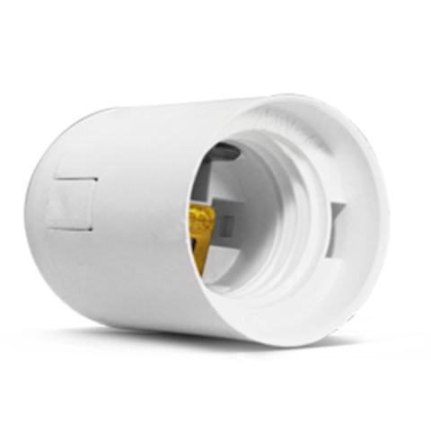 Патрон Е27 подвесной, термостойкий пластик, белый, TDM