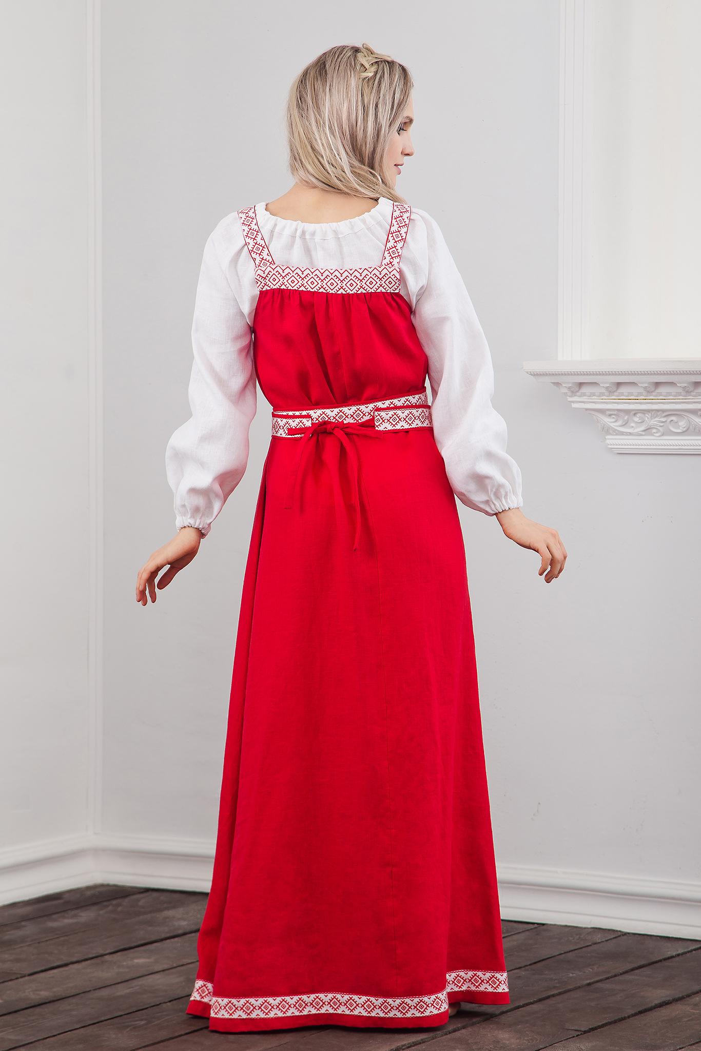 Сарафан традиционный Русская краса вид сзади