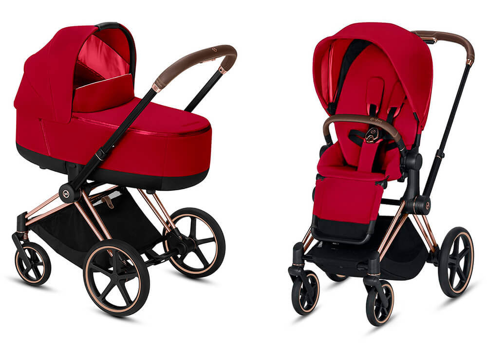 Цвета Cybex Priam 2 в 1 Детская коляска Cybex Priam III 2 в 1 True Red шасси Rosegold cybex-priam-iii-2-in-1-true-red-rosegold.jpg