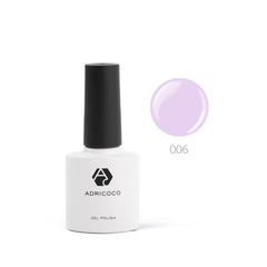 Цветной гель-лак ADRICOCO №006 нежно-лиловый (8...