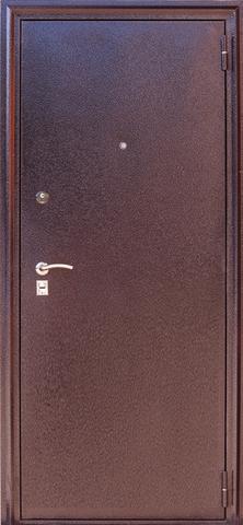 Дверь входная Н-4 стальная, дуб мэлвил, 2 замка, фабрика Арсенал