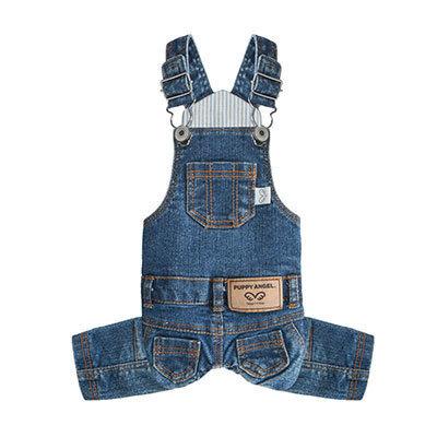 джинсовый комбинезон для йоркширского терьера