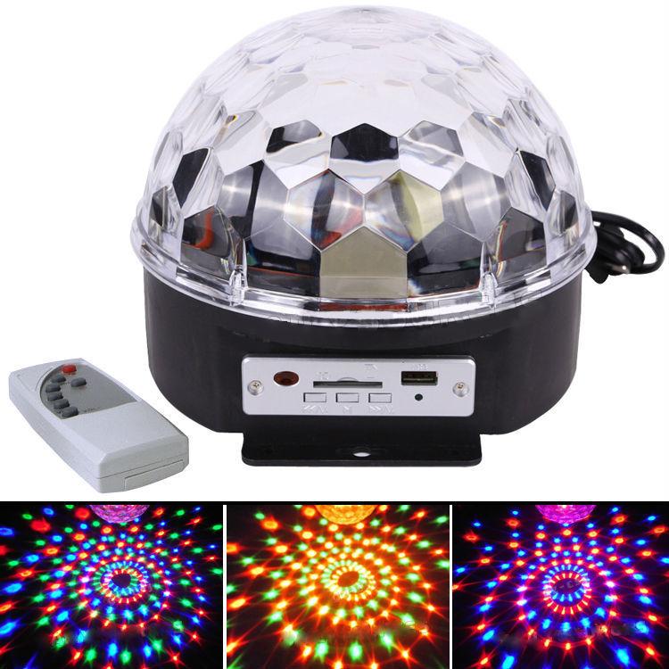 Диско шар Magic Ball Light MP3 с Bluetooth и флешкой (цветомузыка)
