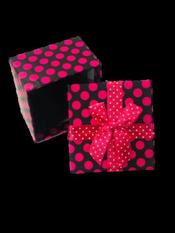 Подарочная коробка горох/блест