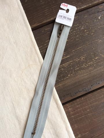 Молния джинсовая №4, Riri, 18см, светло-серый
