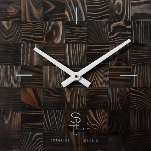 Настенные часы Салют SLT 5195 CHESS BLACK WOOD