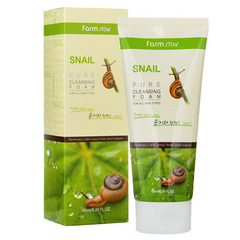 Farmstay Snail Pure Cleansing Foam - Пенка очищающая с экстрактом улитки