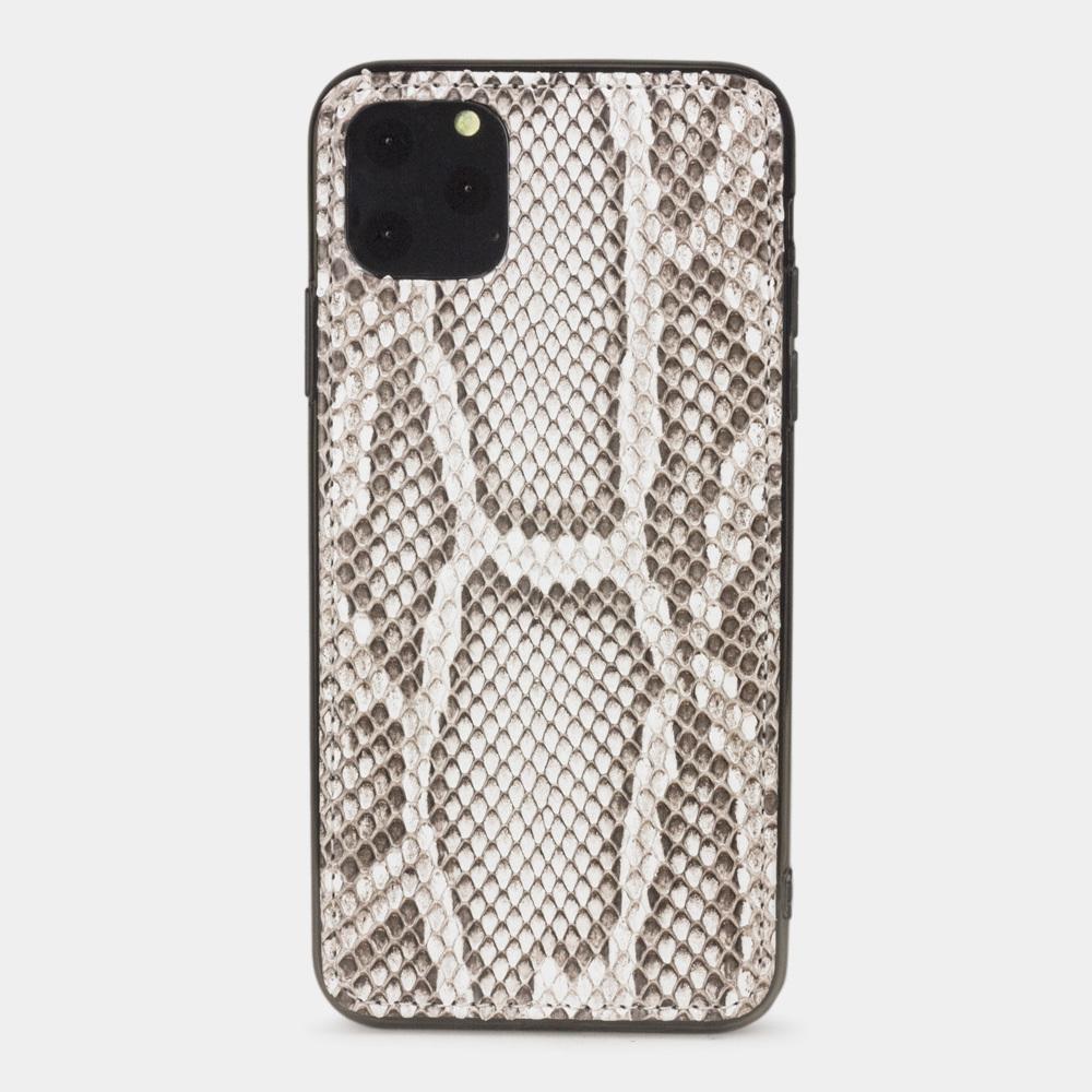 Чехол-накладка для iPhone 11 Pro из натуральной кожи питона, цвета Natur
