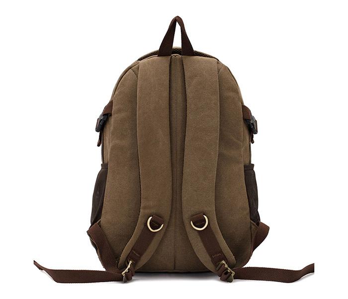 BAG388-2 Мужской повседневный рюкзак цвета хаки из прочной ткани фото 04