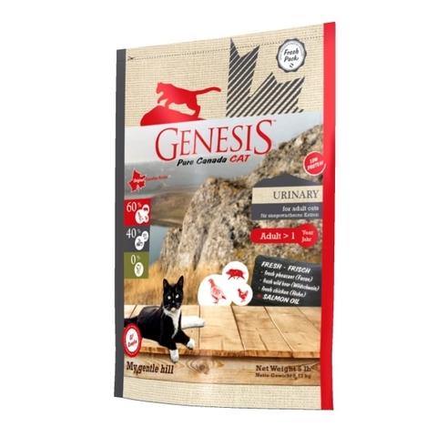 Genesis Pure Canada My Gentle Hill Urinary для взрослых кошек, склонных к проблемам мочеполовой системы с кабаном, фазаном и курицей 2.268 кг