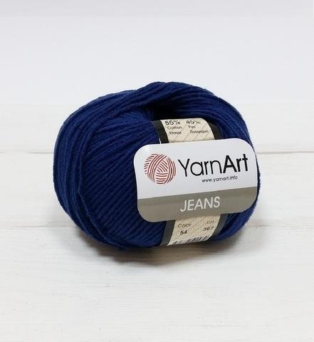 Пряжа YarnArt JEANS - (54-темно-синий)