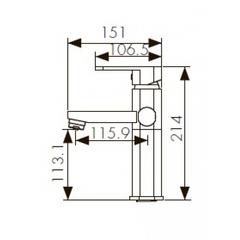 Смеситель KAISER Sonat 34711 для раковины с переключением на гигиенический душ схема