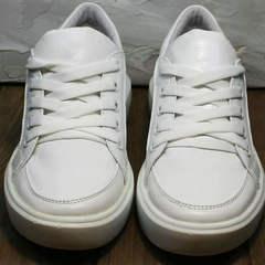 Белые спортивные туфли кроссовки женские для ходьбы Maria Sonet 274k All White