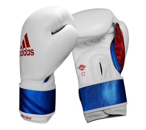 Перчатки боксёрские Adidas Speed Pro бело-сине-красные