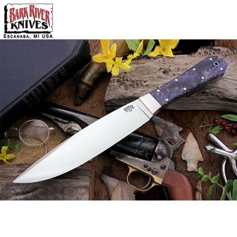 Нож Bark River модель Rogue Blue Gold Maple Burl