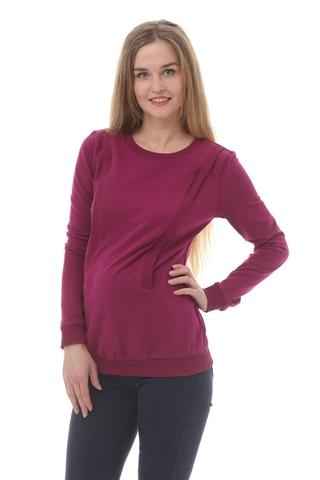 Свитшот для беременных и кормящих 10182 фиолетовый