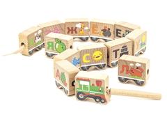 Игрушки из дерева Бусы-алфавит
