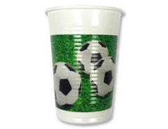 Стакан пласт Футбол зеленый 200мл 8шт/Р
