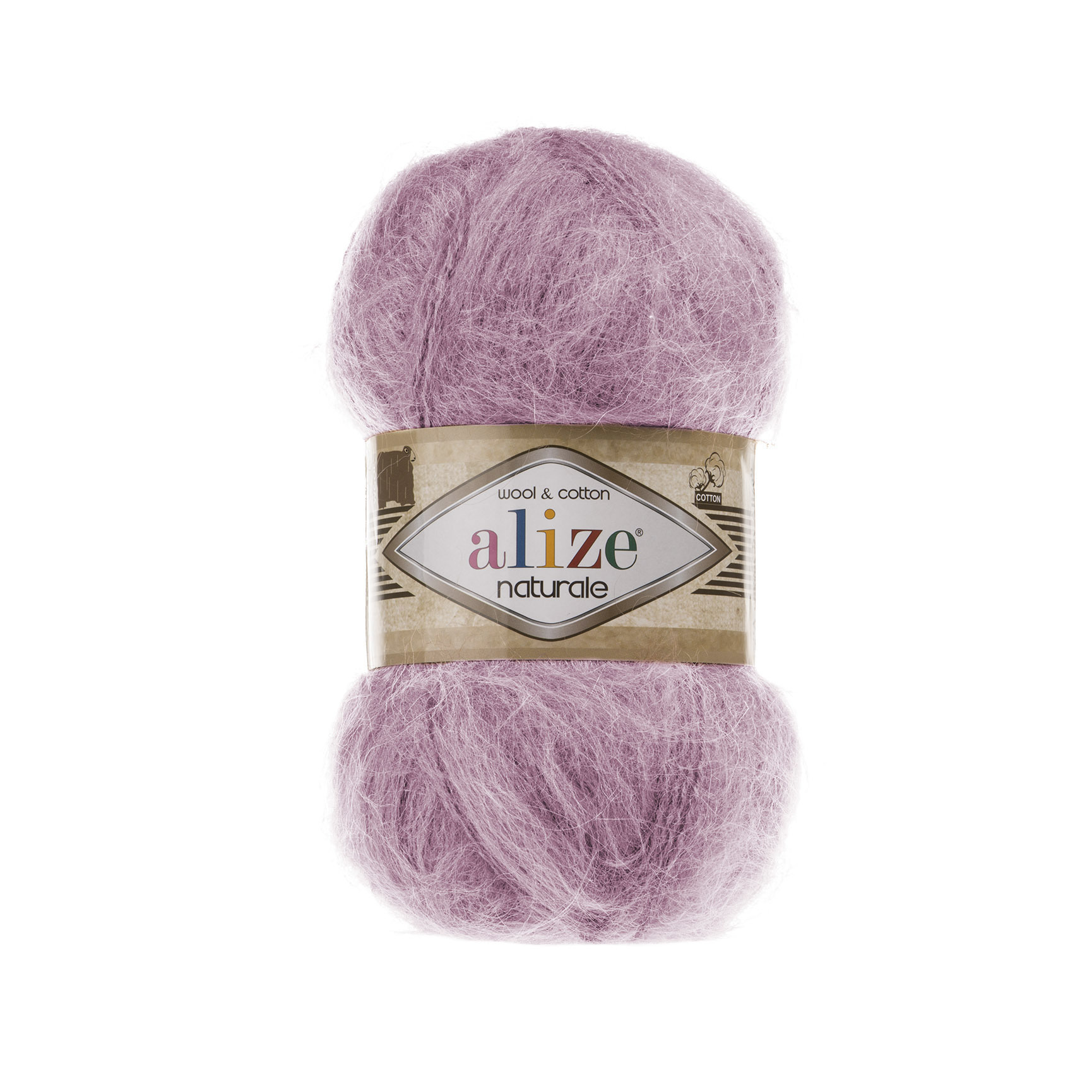Пряжа Alize Naturale 392 розовый