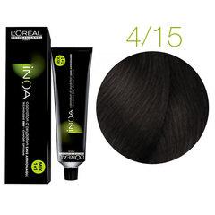 L'Oreal Professionnel INOA 4.15 (Шатен пепельный красное дерево) - Краска для волос