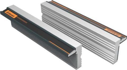 Магнитные губки для тисков, пара алюминиевые, профильные