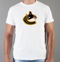 Футболка с принтом НХЛ Ванкувер Кэнакс (NHL Vancouver Canucks) белая 003