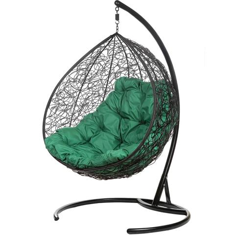 Двухместное подвесное кресло Gemini Black