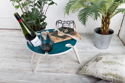 Складной столик для вина,изумрудный
