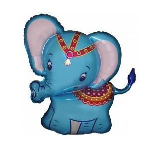 Фольгированный шар Слонёнок голубой 32
